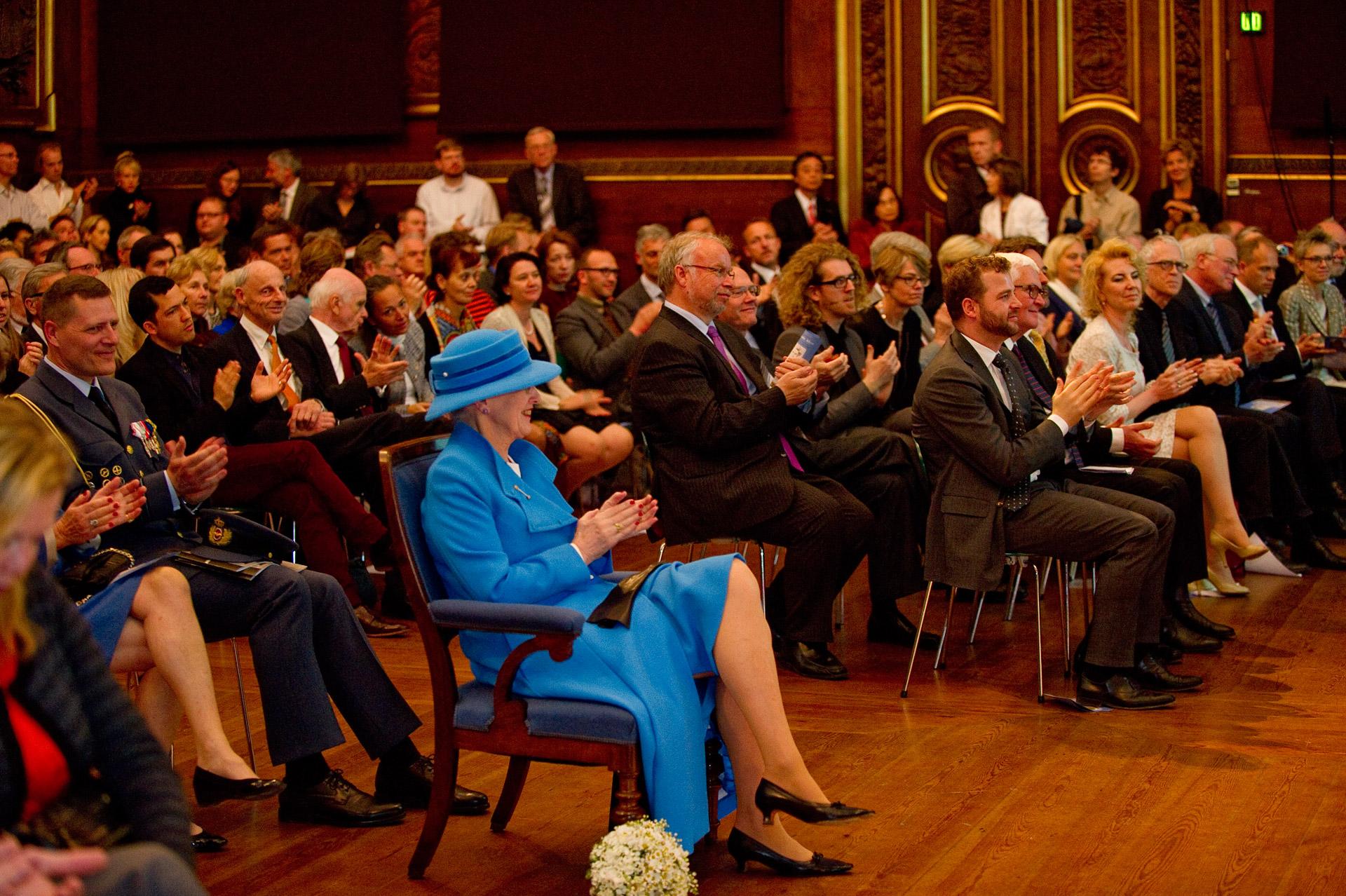Her majesty Queen Margrethe ll at a Kierkegaard Symposium in Copenhagen University