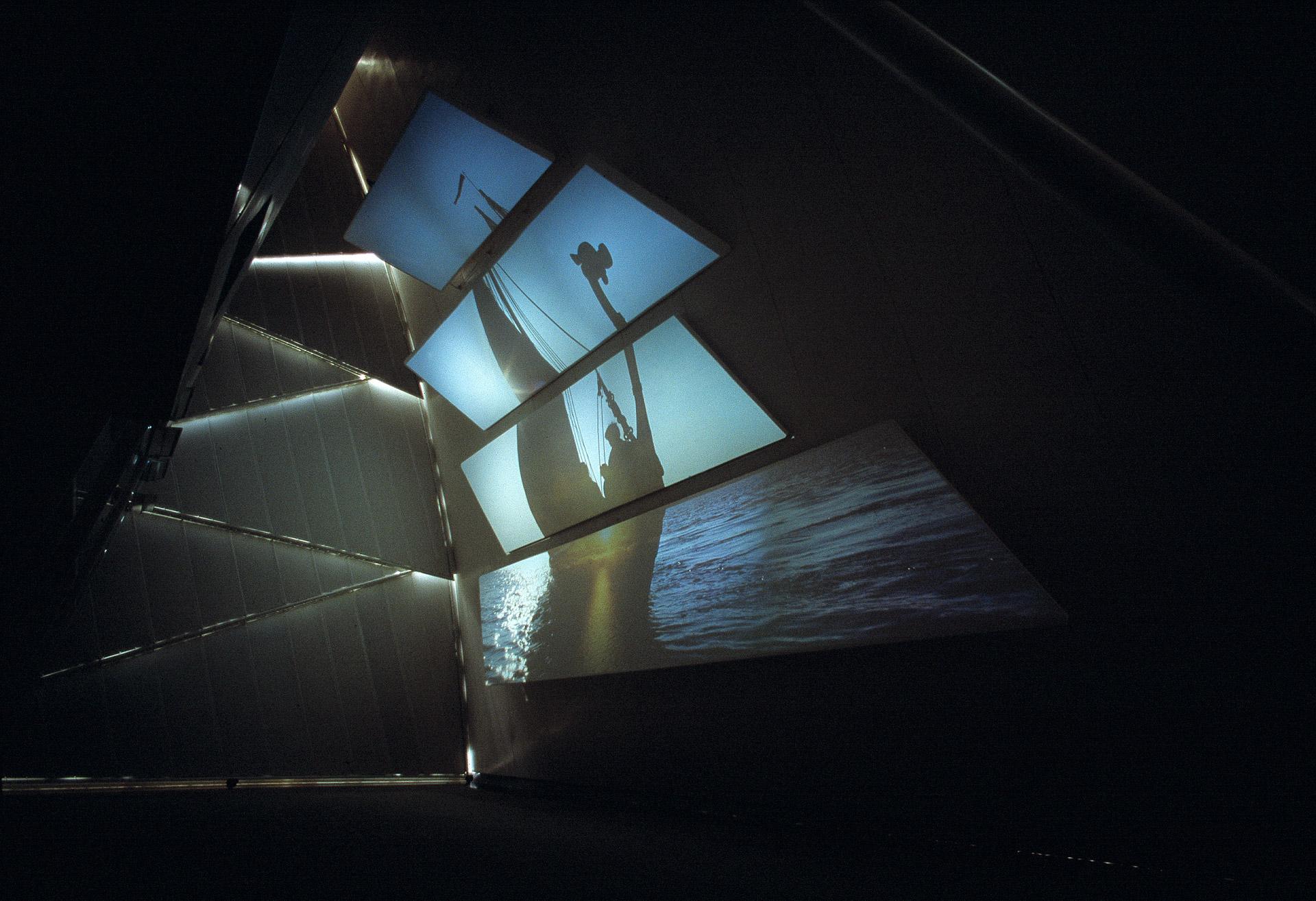 A viking ship multimediashow for the Danish Pavillon in Sevilla