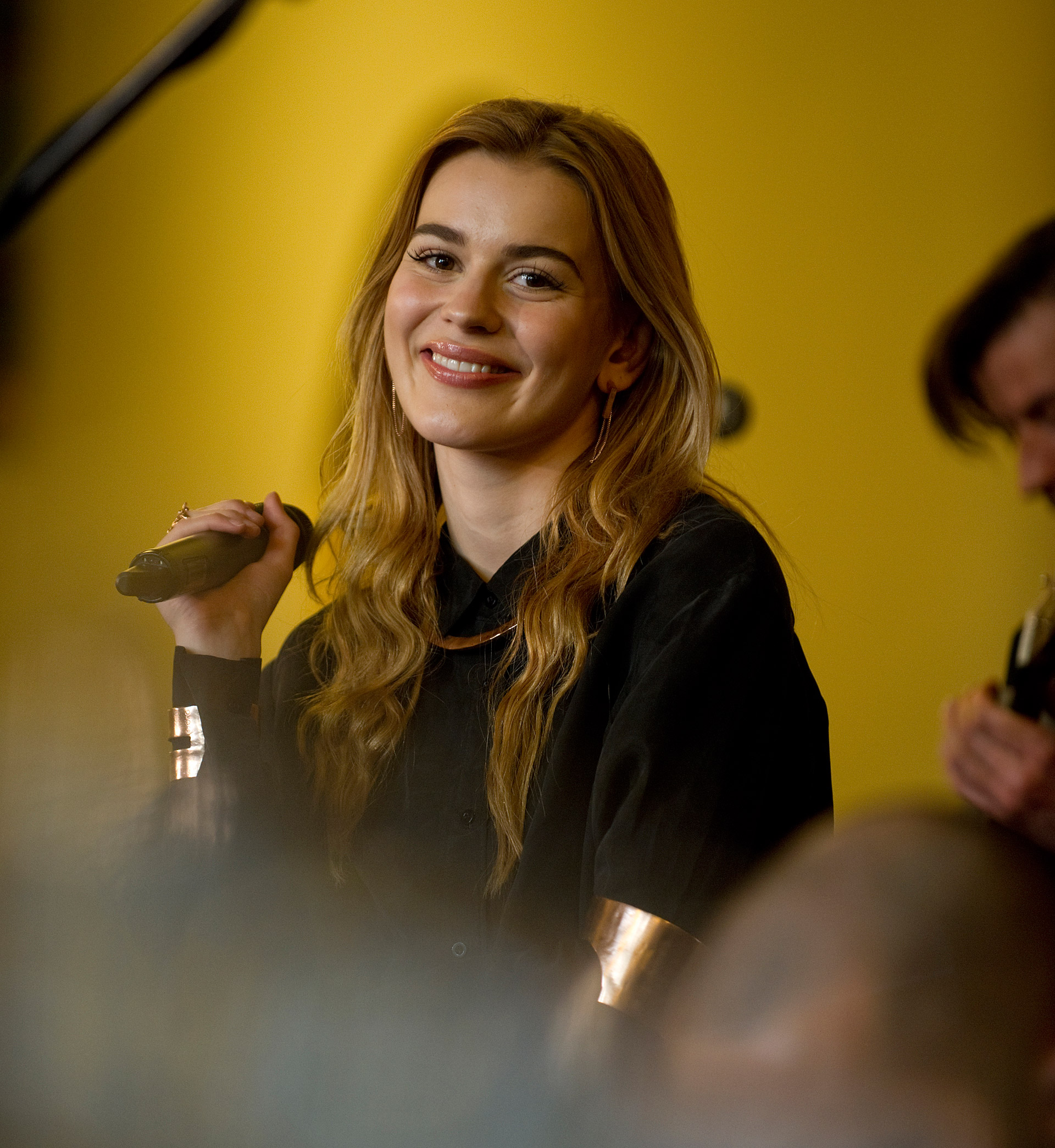 Danish singer and winner of the Melody Grand Prix Emmelie de Forest at a concert in the City Hall in Copenhagen