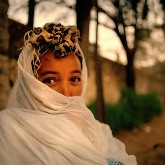Woman at Timkat religious Festival in Gondar Ethiopia