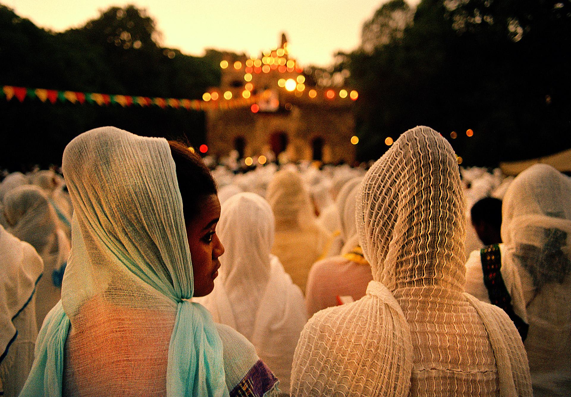 Timkat religious Festival in Gondar Ethiopia