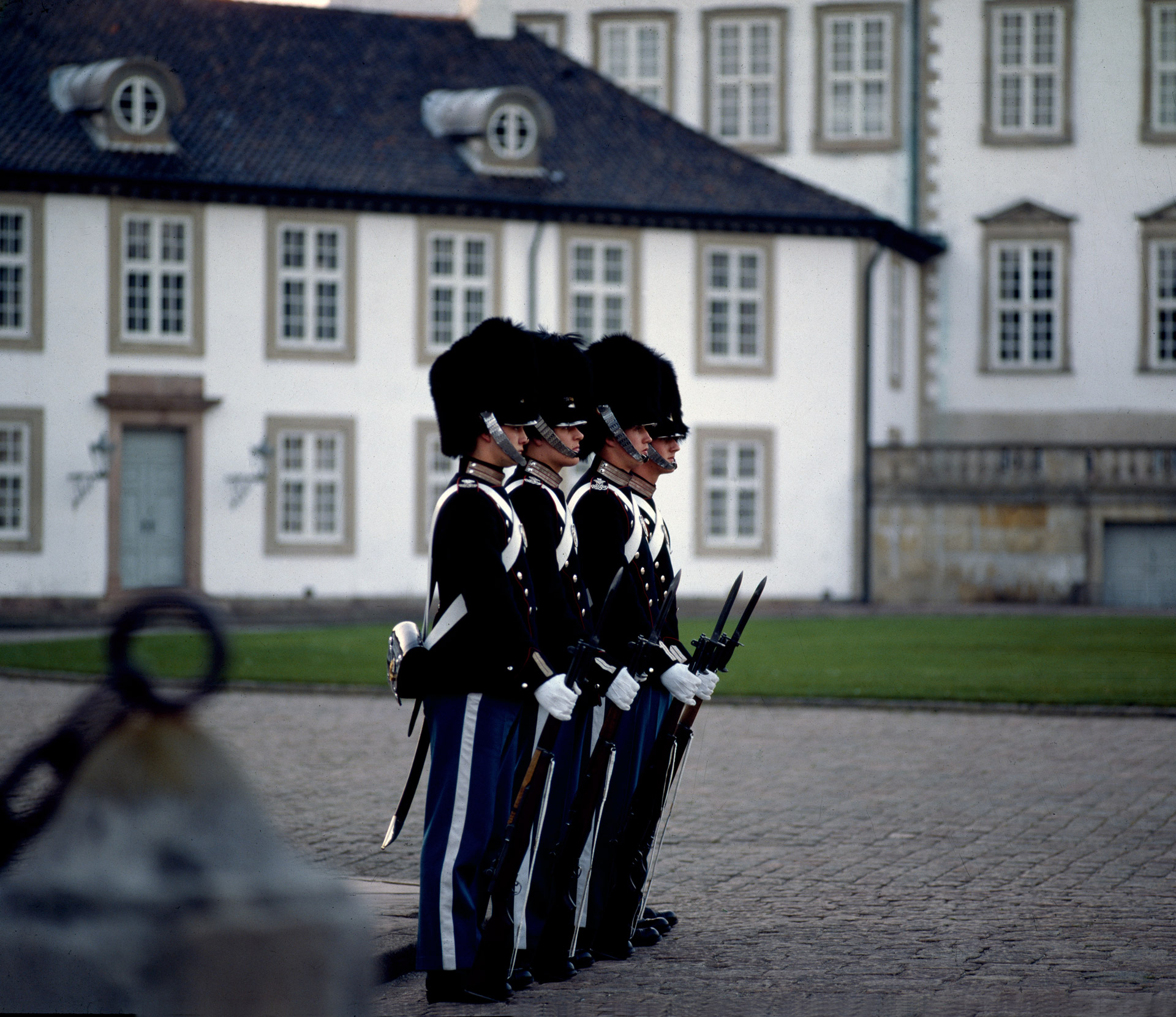 Soldiers from the royal guard at Fredensborg castle