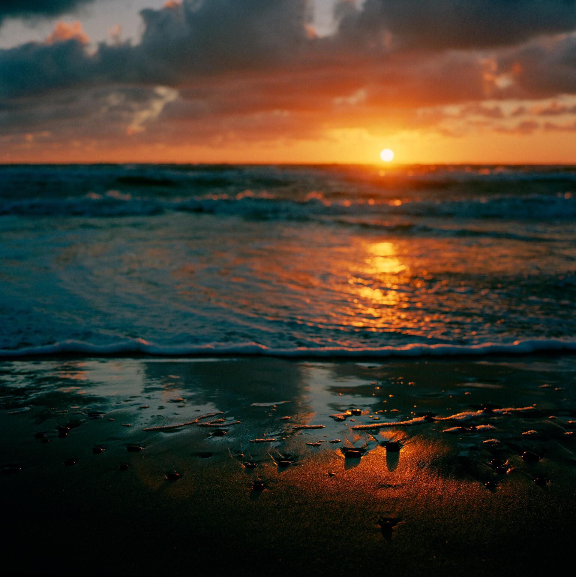 Sunset over the North Sea in Kandestederne Denmark