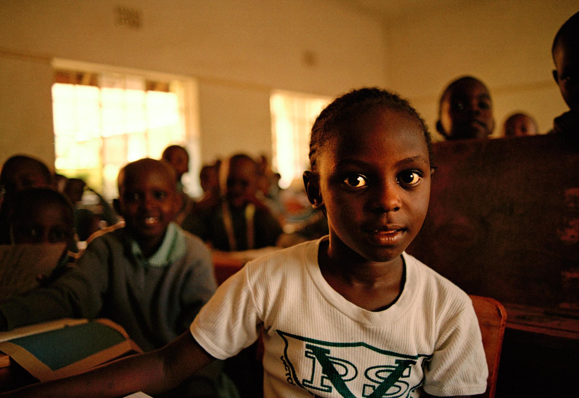 Pupils in class at Victoria School in Kisumu Kenya