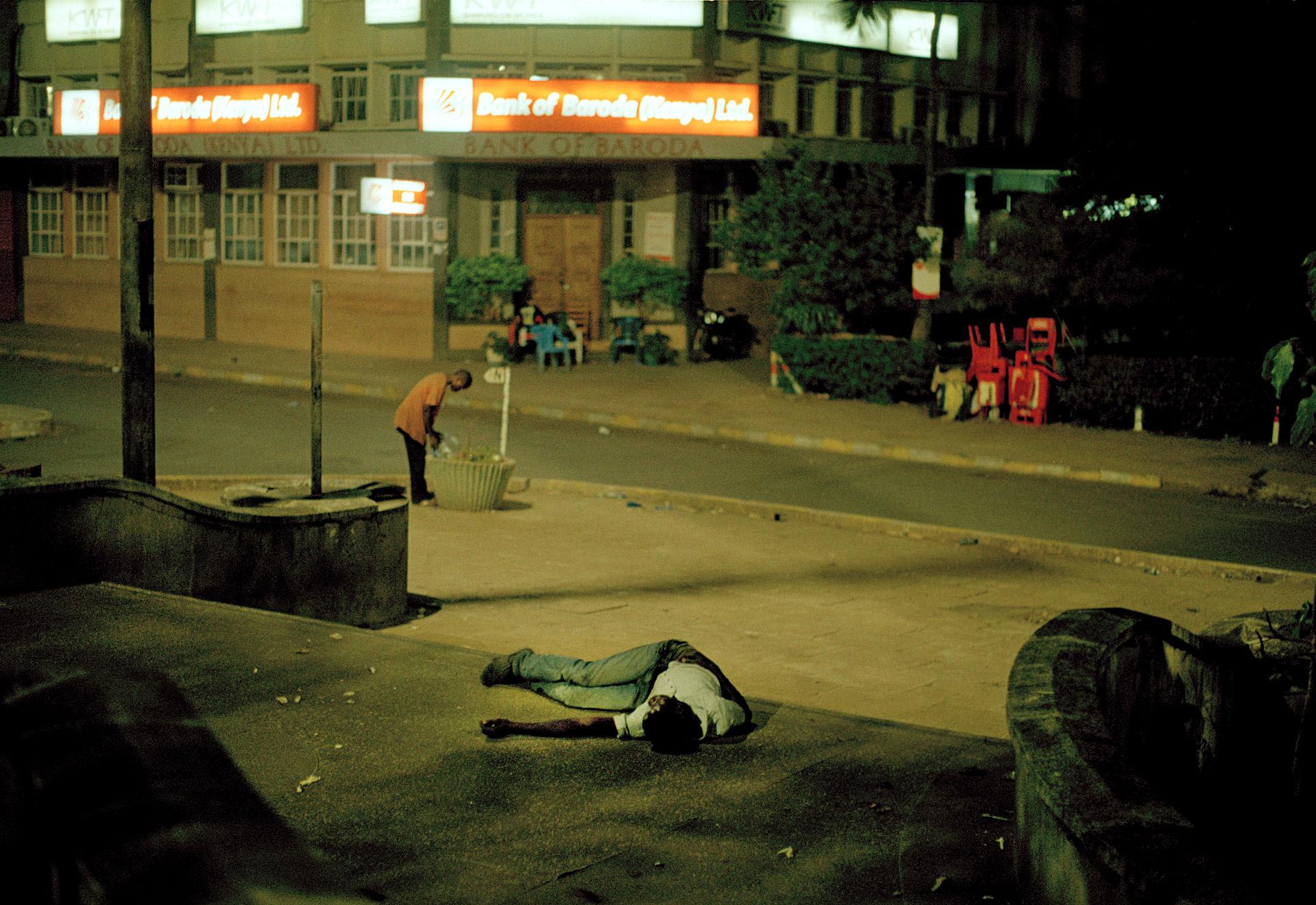 A sleeping man in Kisumu Kenya