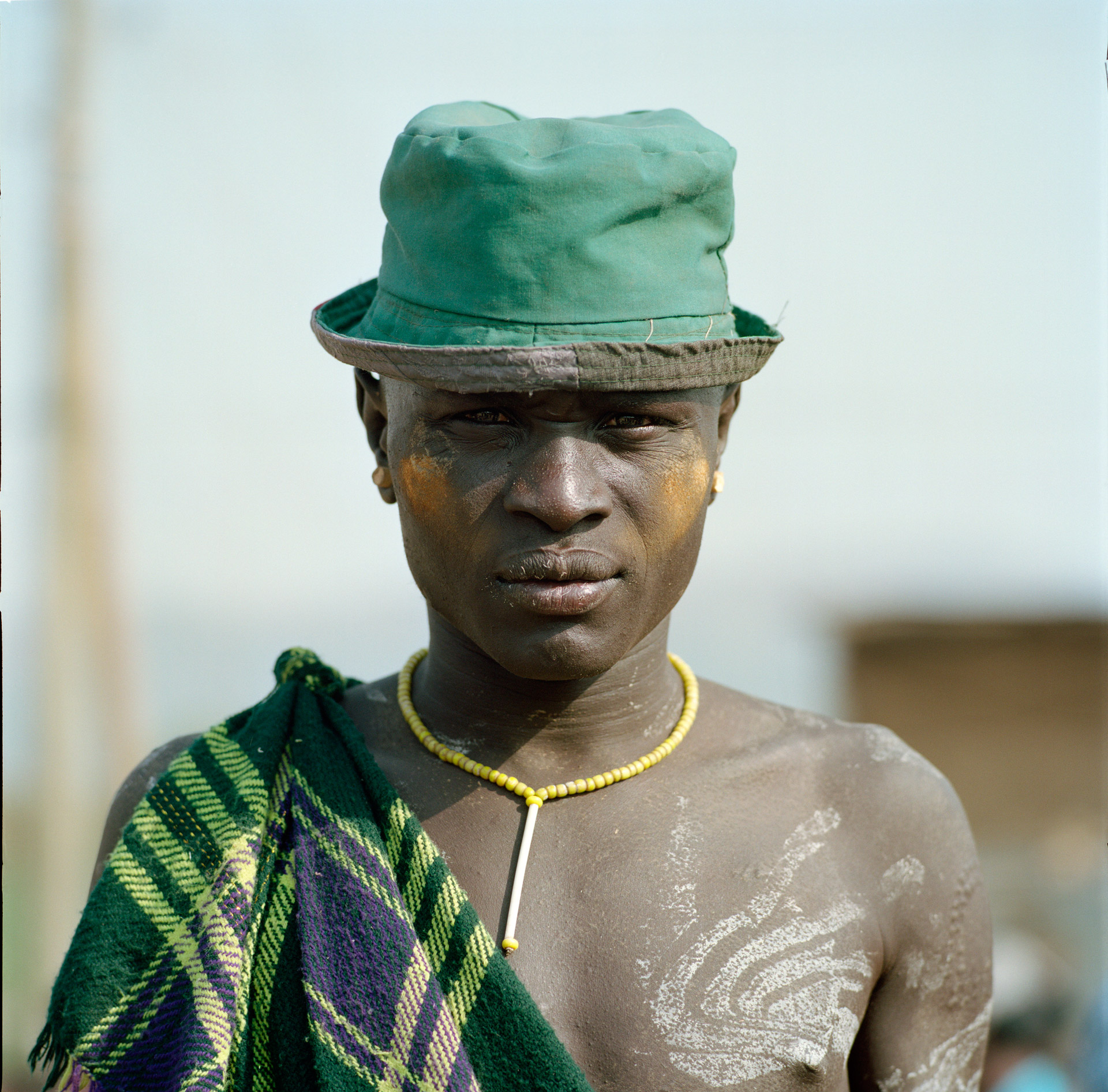 A man from the Mursi tribe at the market in Jinka