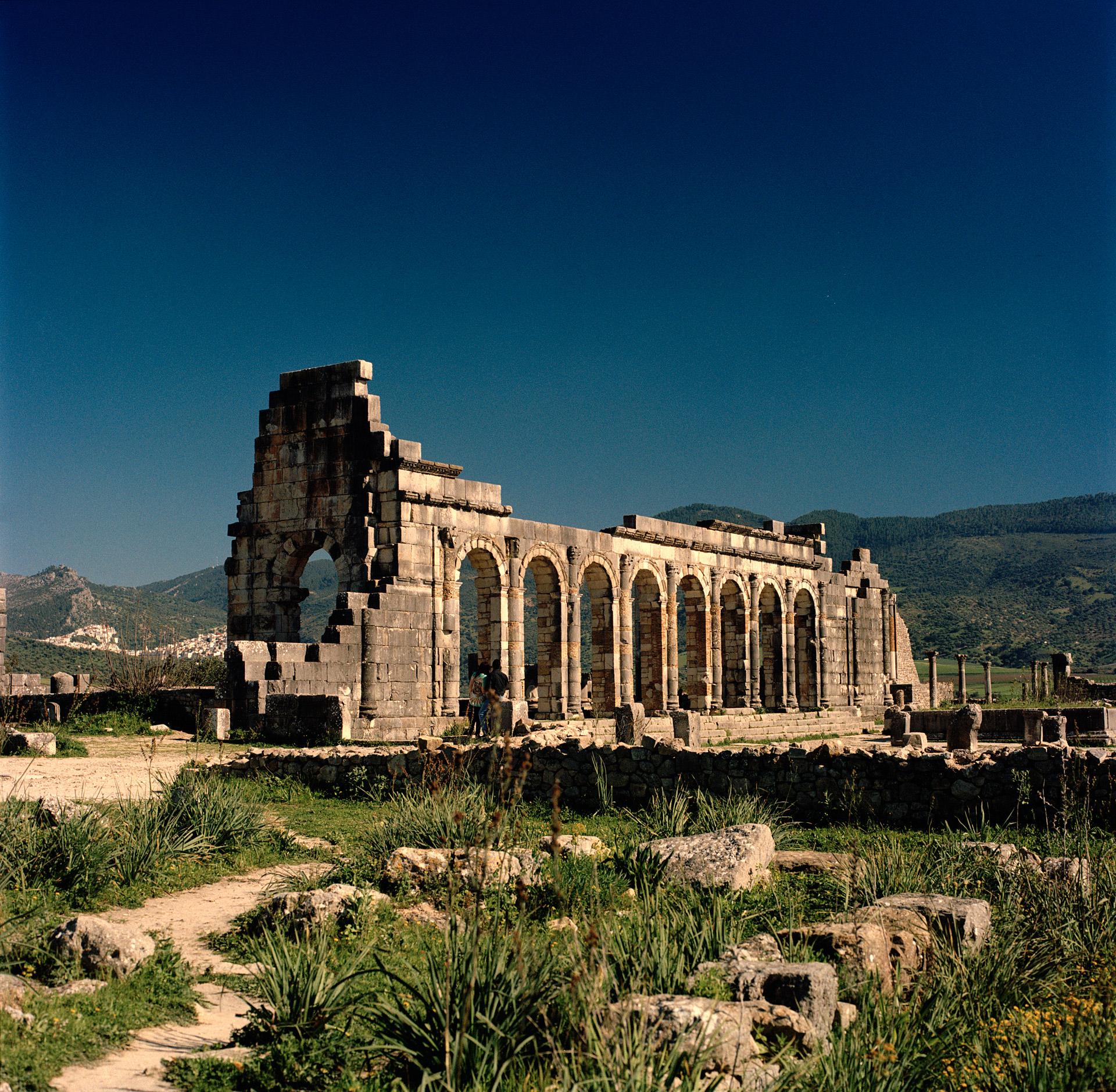 Volubilis ruin in Morocco from the Roman Empire