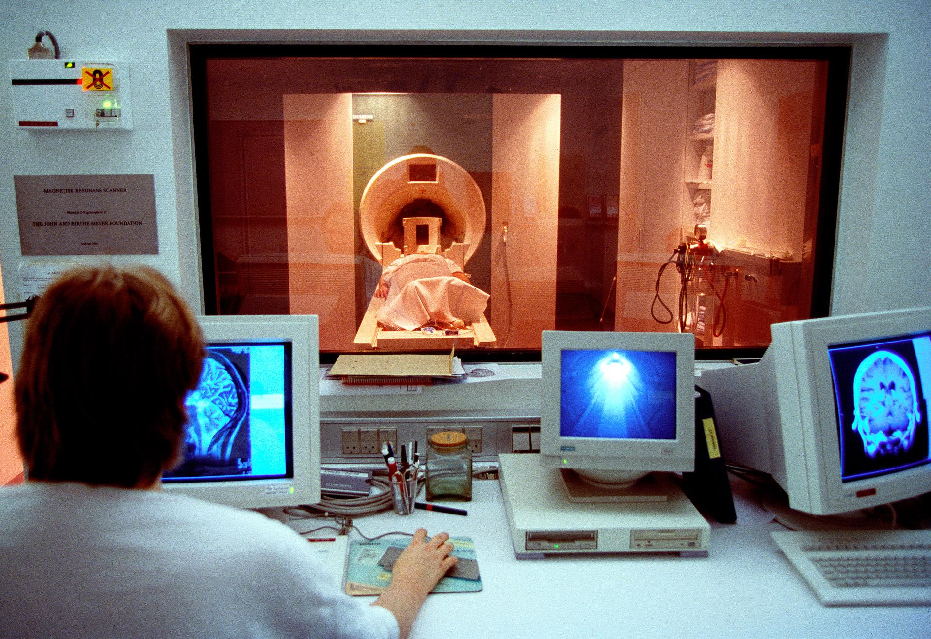 MR scanner at Rigshospitalet in Copenhagen Denmark
