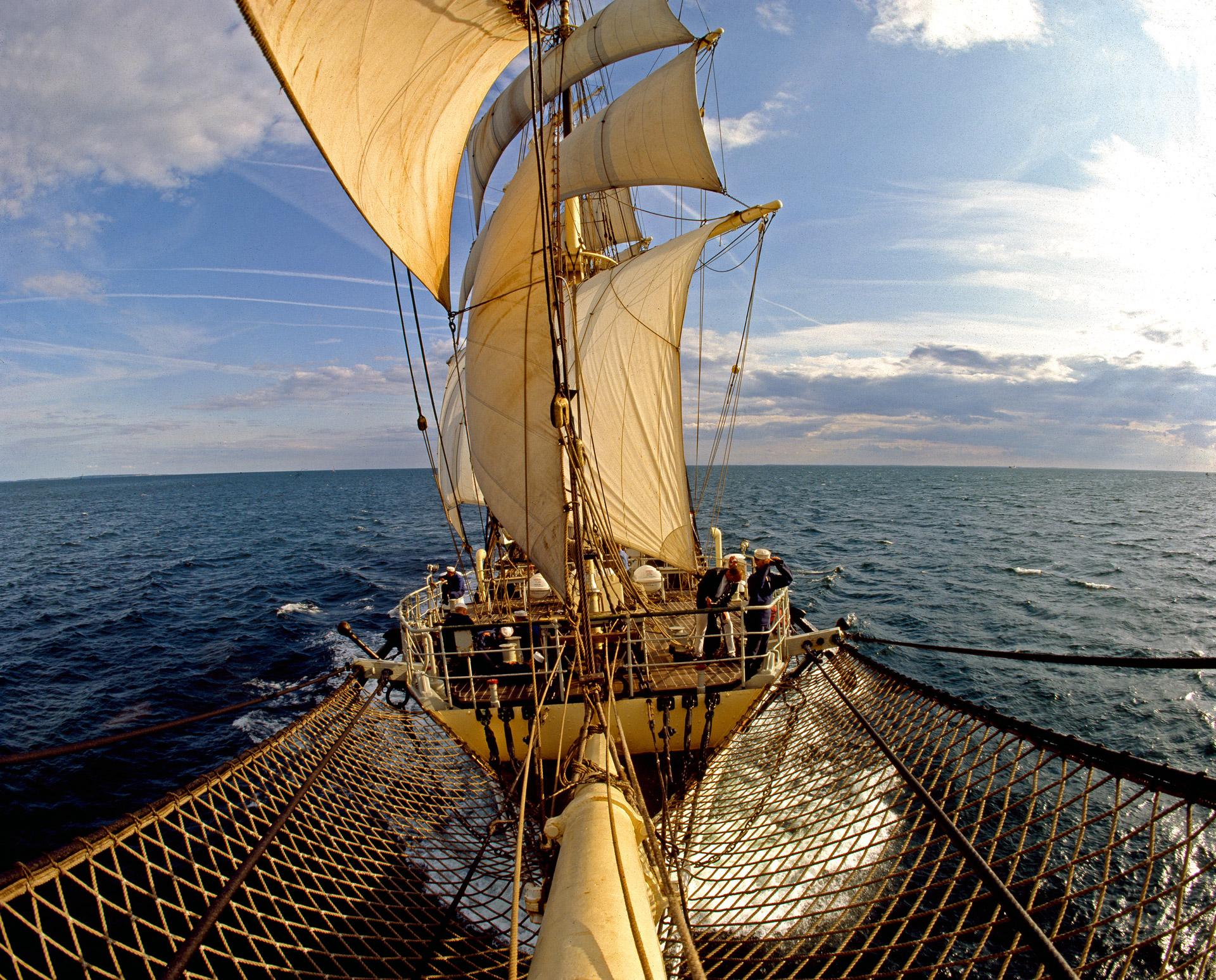 Skoleskibet Danmark - the school ship Denmark