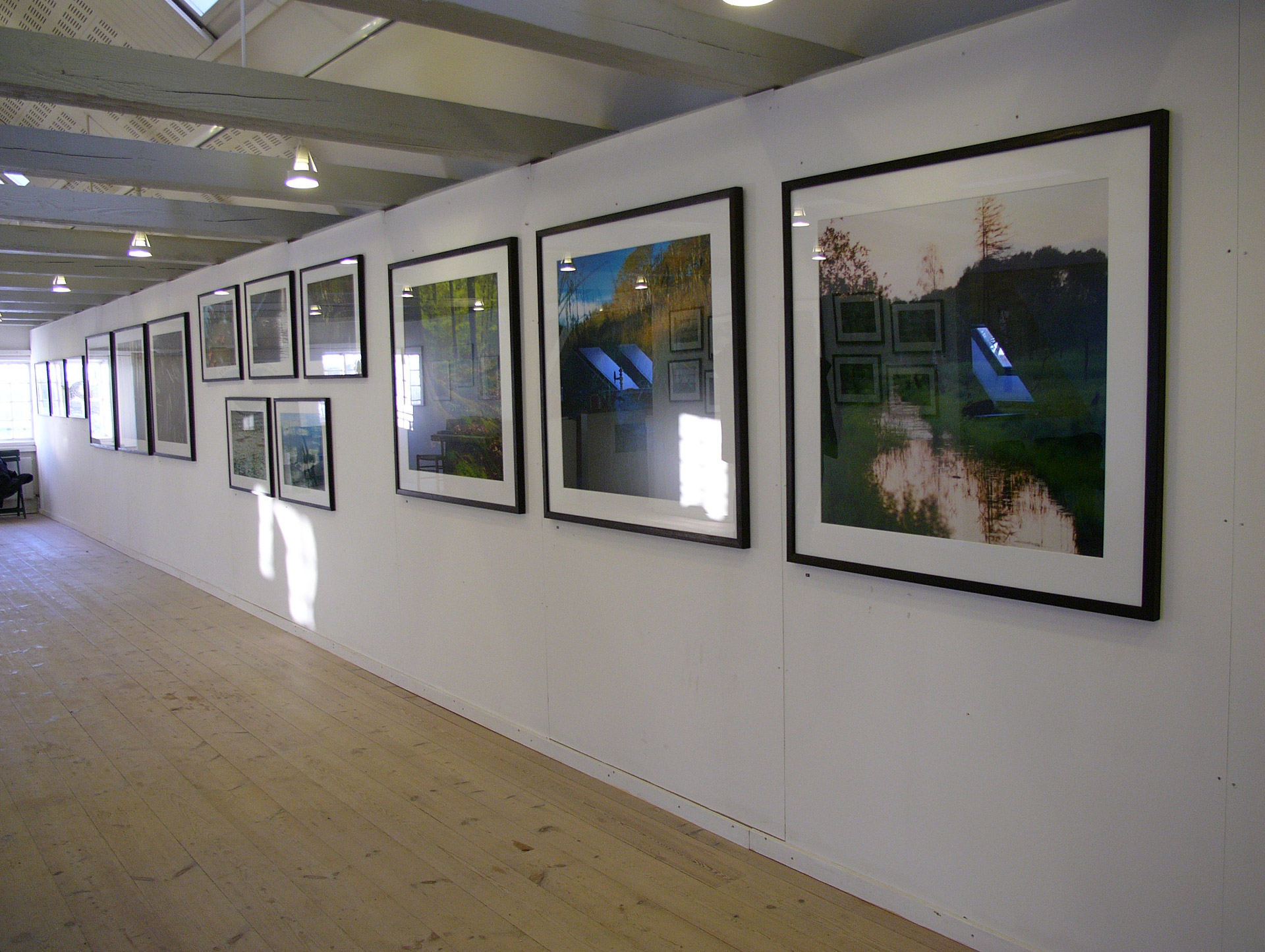 Mikkel Alexander Grabowski's exhibition about Mølleåen in Sophienholm in Lyngby