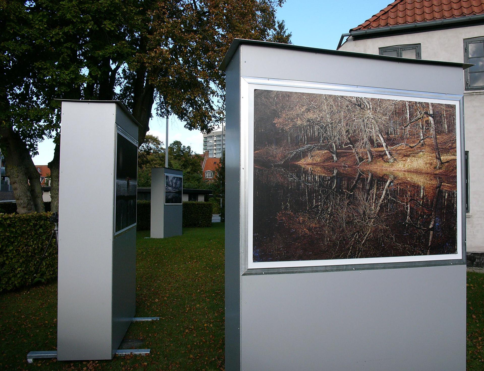Mikkel Alexander Grabowski's exhibition about Moelleaaen at Thorasminde in Bagsværd
