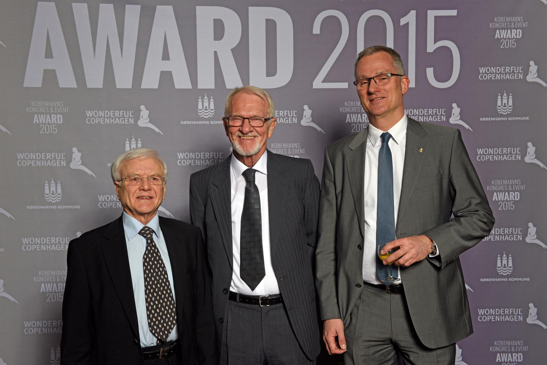 Three men at Wonderful Copenhagen awards 2015