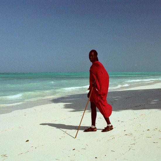 Masai warrior Zanzibar beach