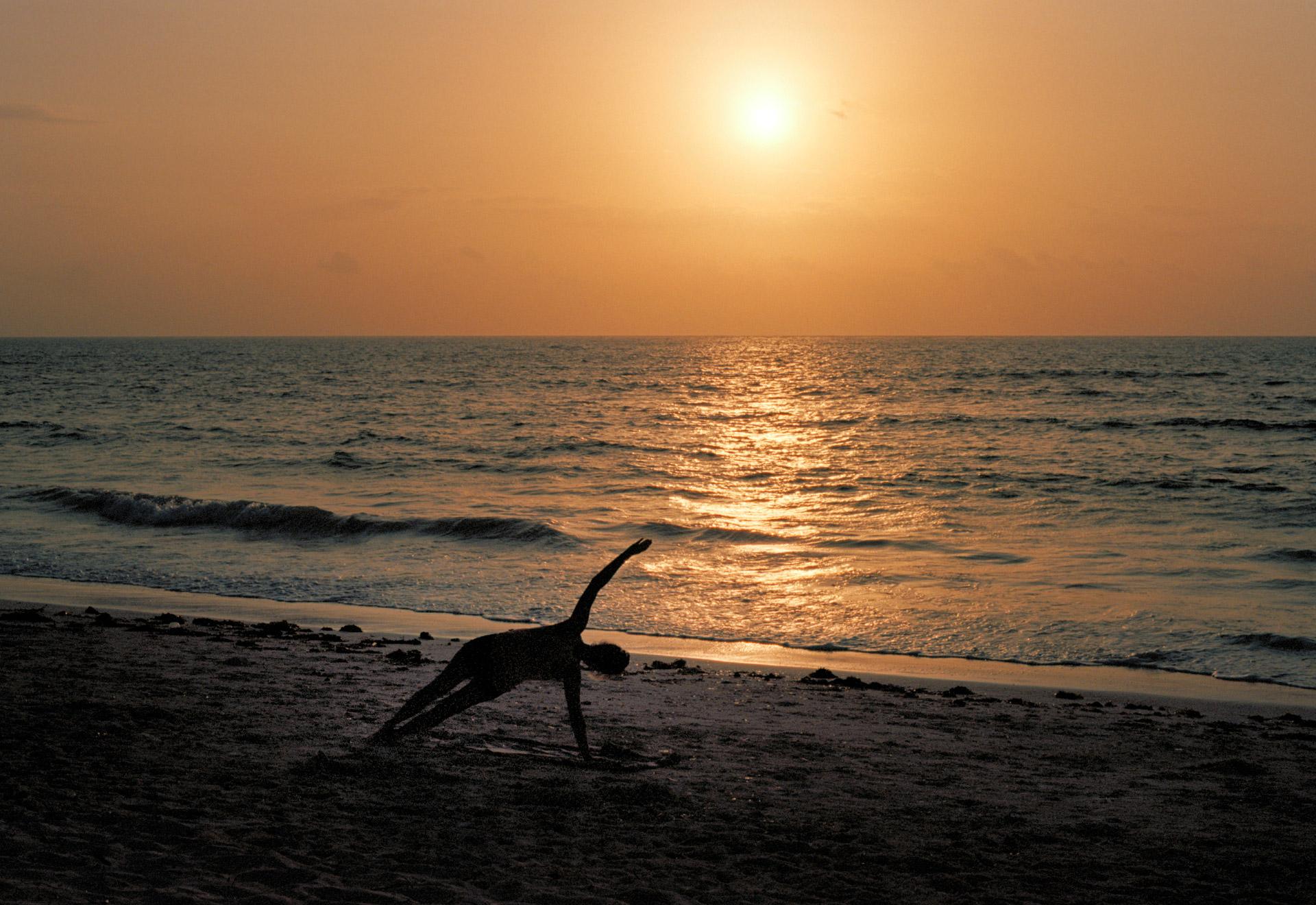 Yoga in the beach Unguja Zanzibar