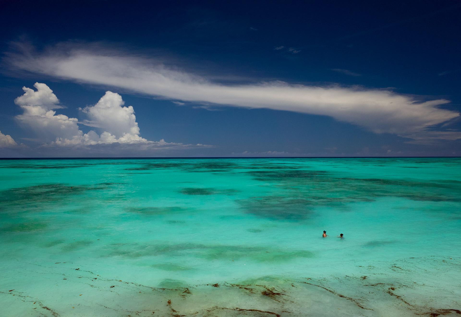 People swimming Unguja Zanzibar