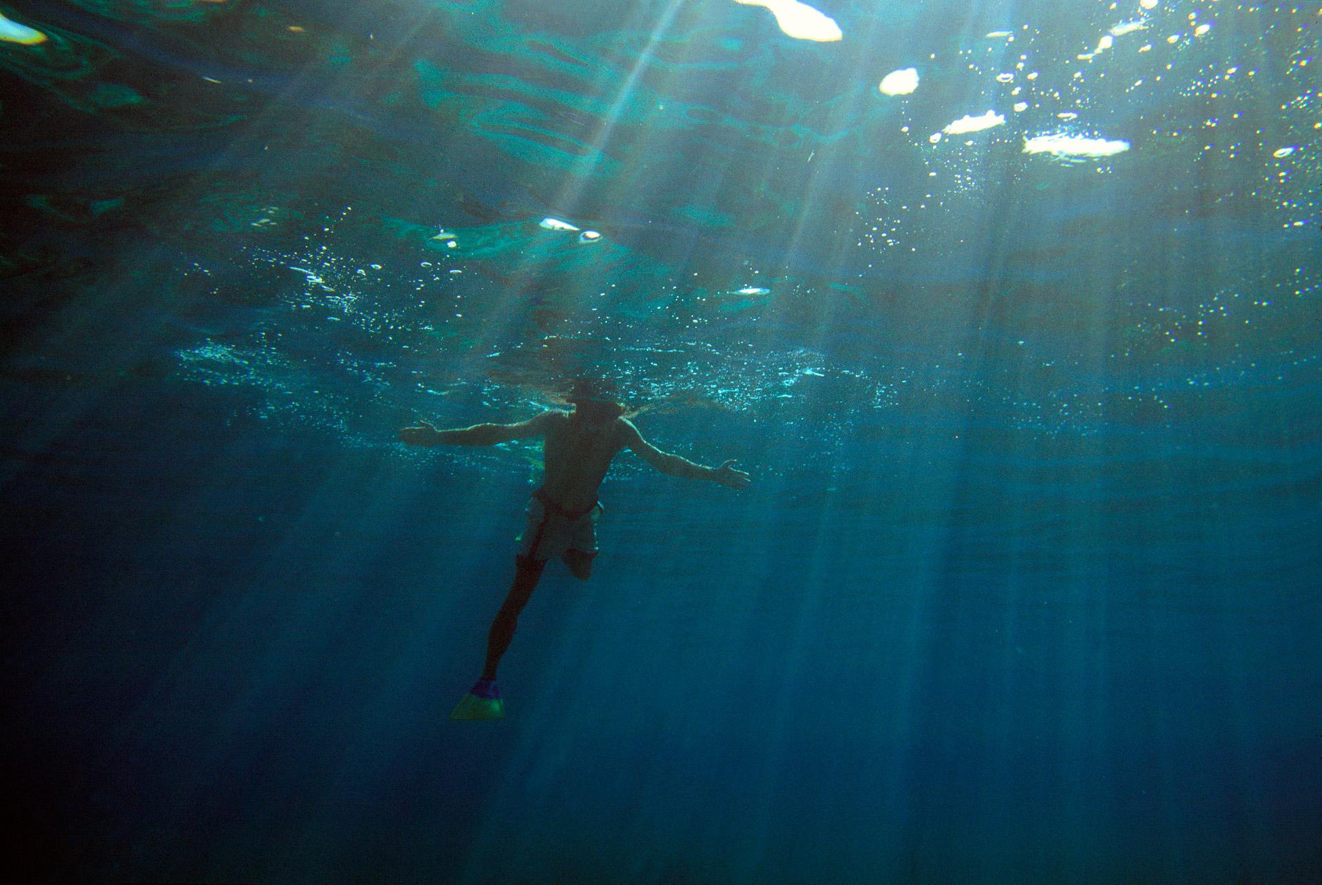 Swimmer at Cay Caulker, Belize