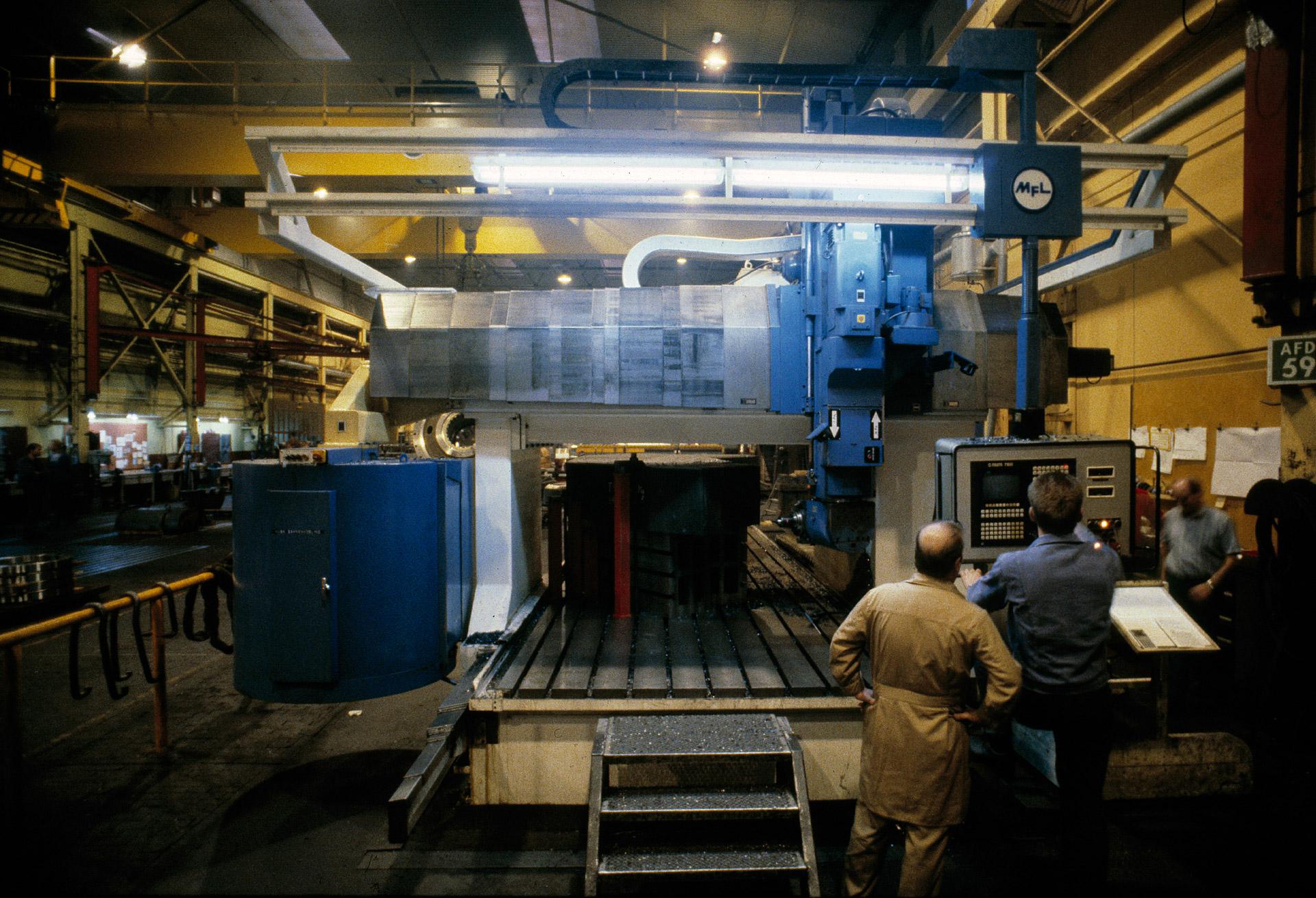 FLS Industries CNC machine in Valby