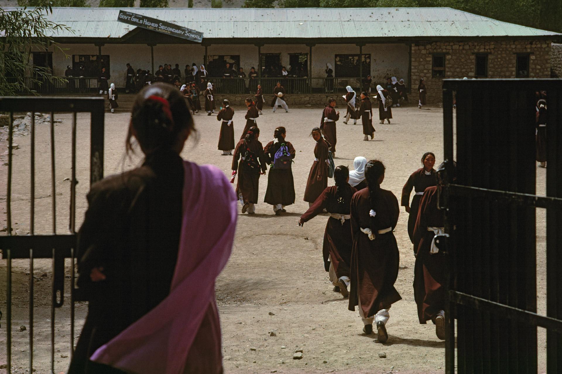 Girls attending a school in Leh, Ladakh