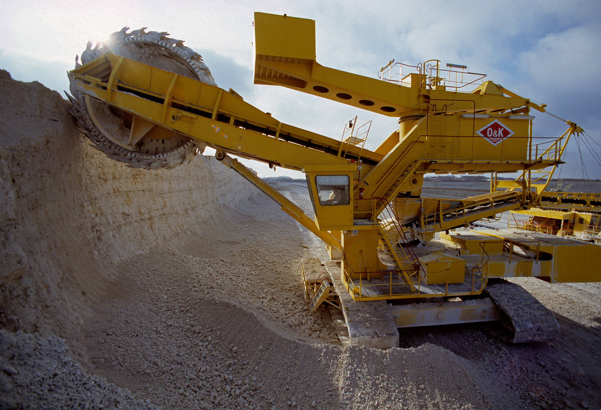 FLS Industries - a huge gravel machine at Aalborg Portland cement factory