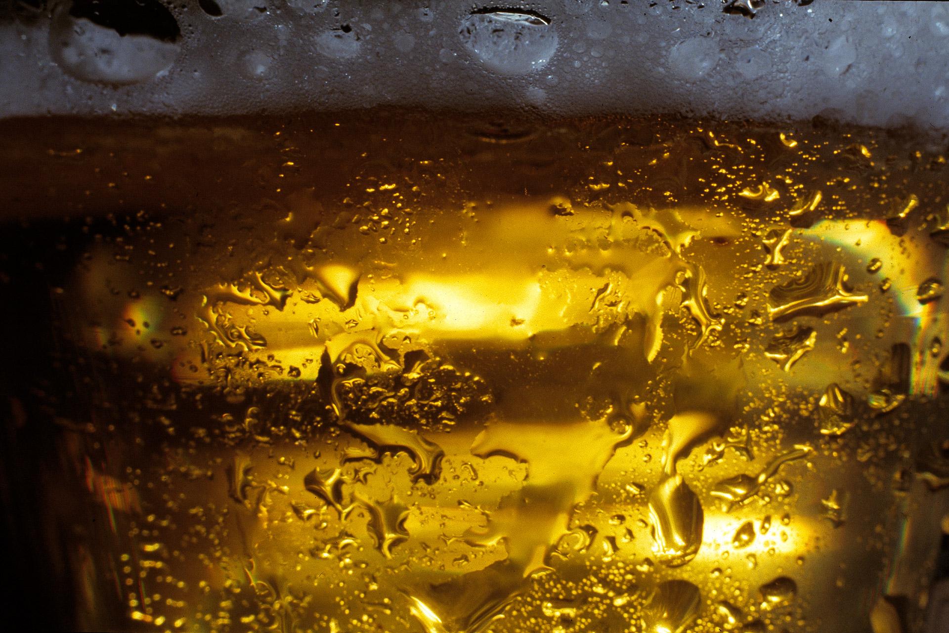 A glass of Carlsberg Beer