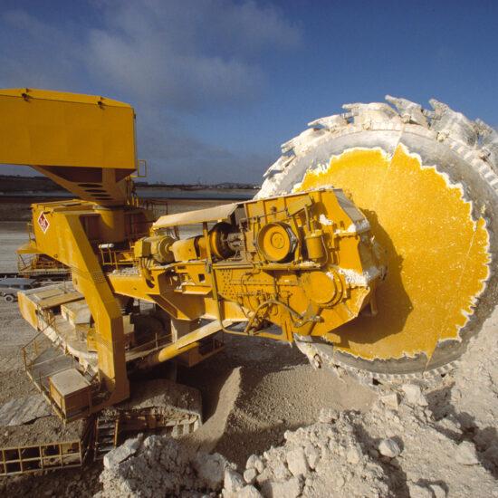 FLS Industries - a huge gravel machine at Aalborg Portland cement factory