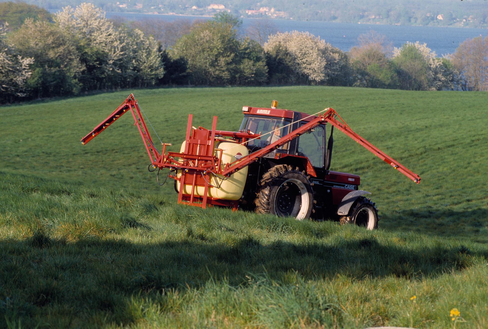 Spraying a field. Hardi International