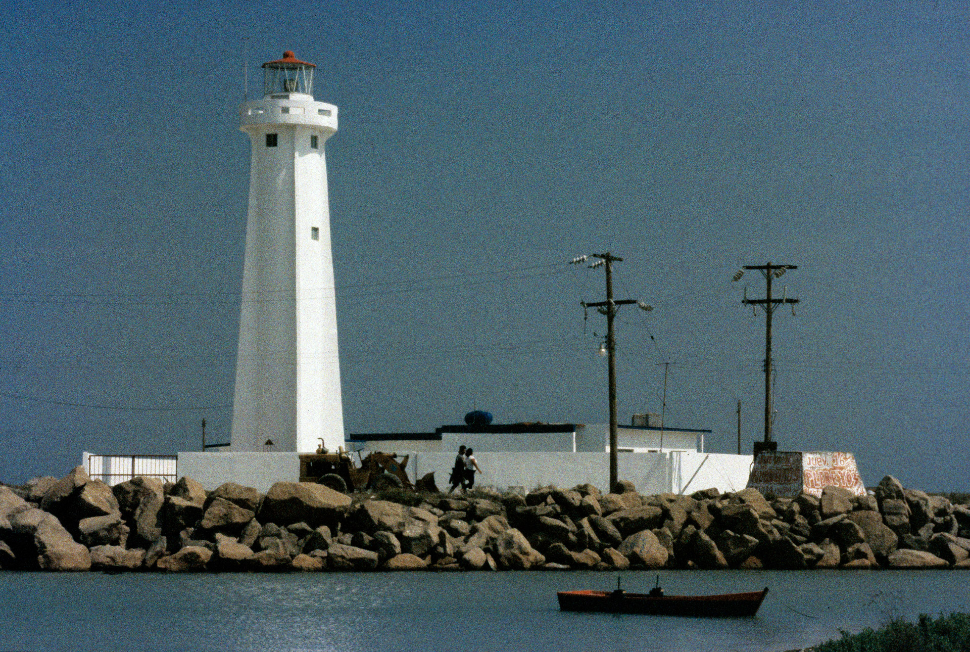 A lighthouse at the Gulf of Mexico