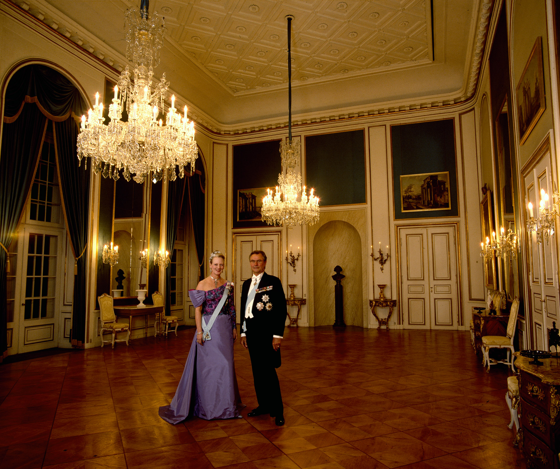 Queen Margrethe ll of Denmark and Prince Henrik