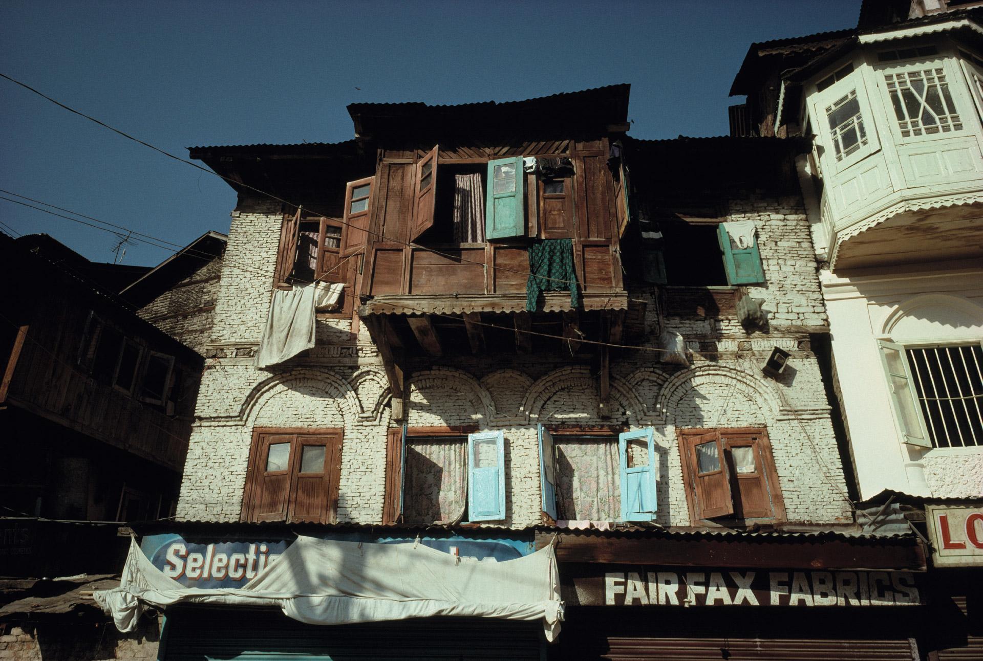 Houses in Shrinagar in Kashmir in India