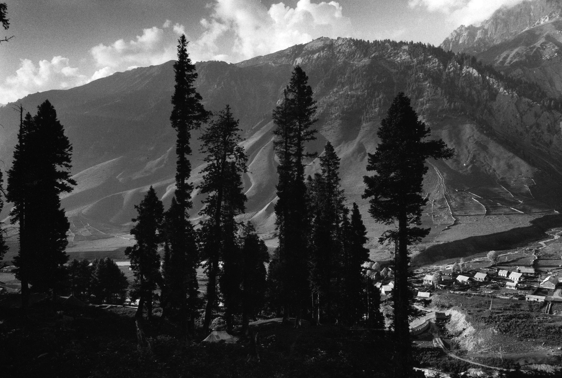 View over the valley in Sona Marg, Kashmir