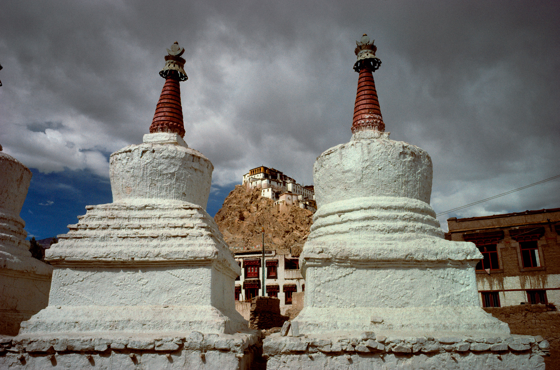 Thiksey Monastery and stupas in Ladakh