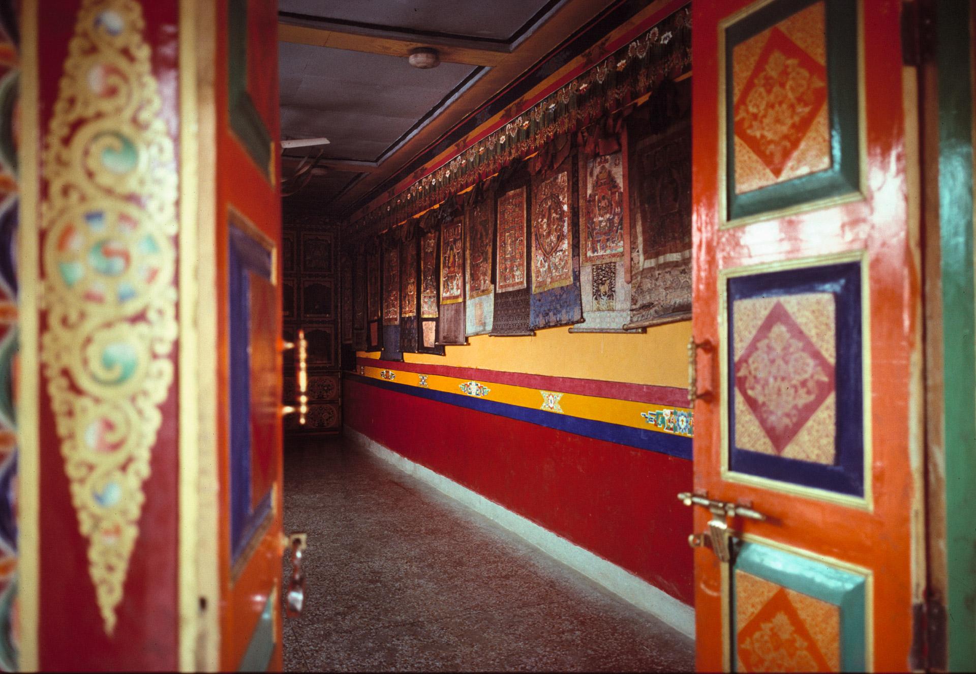 Budhist Tankas in a prayer room in Thiksey Monastery in Ladakh